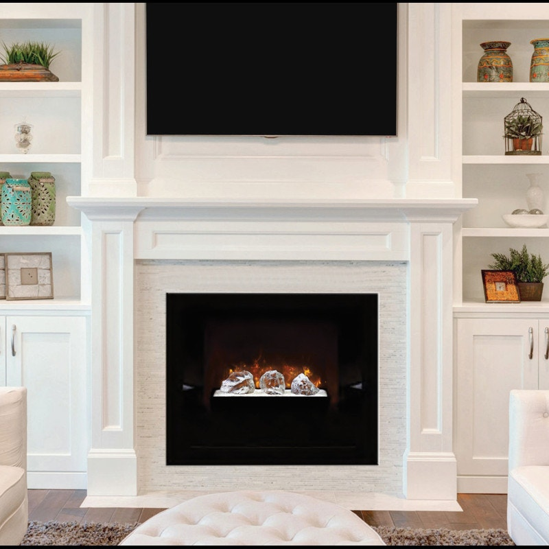 Wood Framed Fireplace - Electric