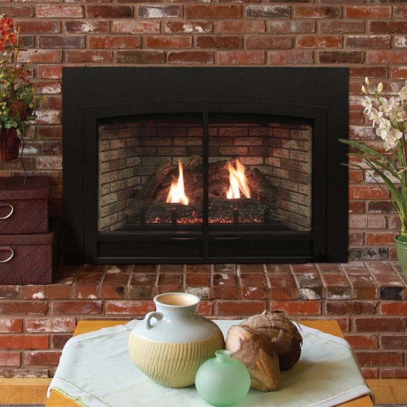 Brick & Stone Gas Fireplace Inserts