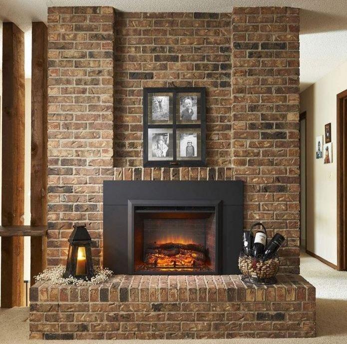 Brick & Stone Electric Fireplace Inserts