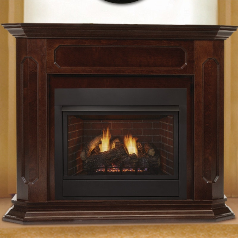 Wood Framed Fireplace - Gas