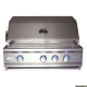 RCS Cutlass Pro 30-Inch Built-In Gas Grill With Rear Infrared Burner & Blue LED Lights - RON30A/RON30ALP